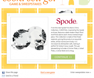 Cook! Set! Go! Sweepstakes